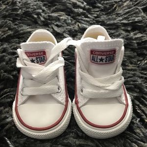 Infant size 2 Converse All Star white shoes